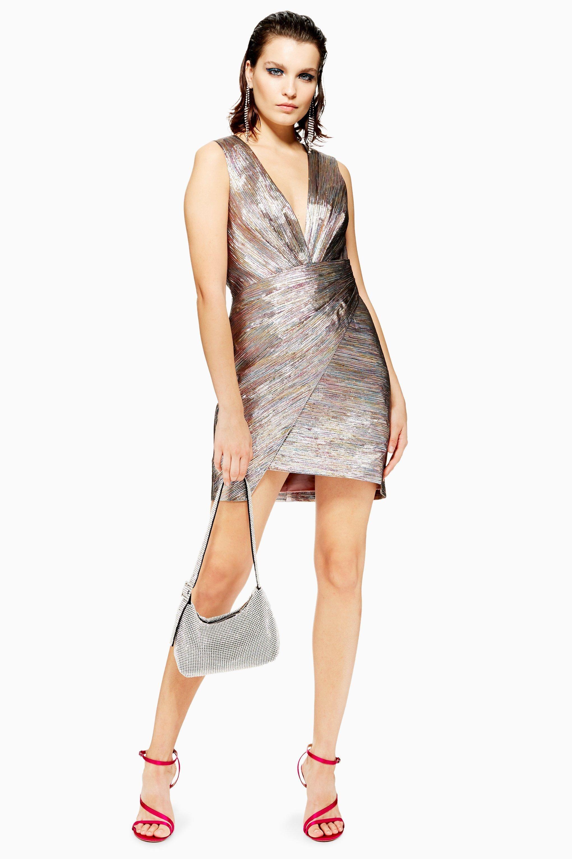 f1166e9ee2c1 Rainbow Metallic Wrap Dress - New In Fashion - New In