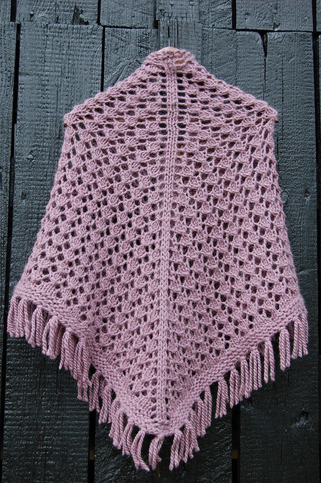 Free Knitting Pattern for Joy of Fall Shawl - This triangle lace
