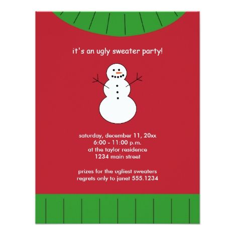Ugly Christmas Sweater Party Invitations in 2018 Christmas Party