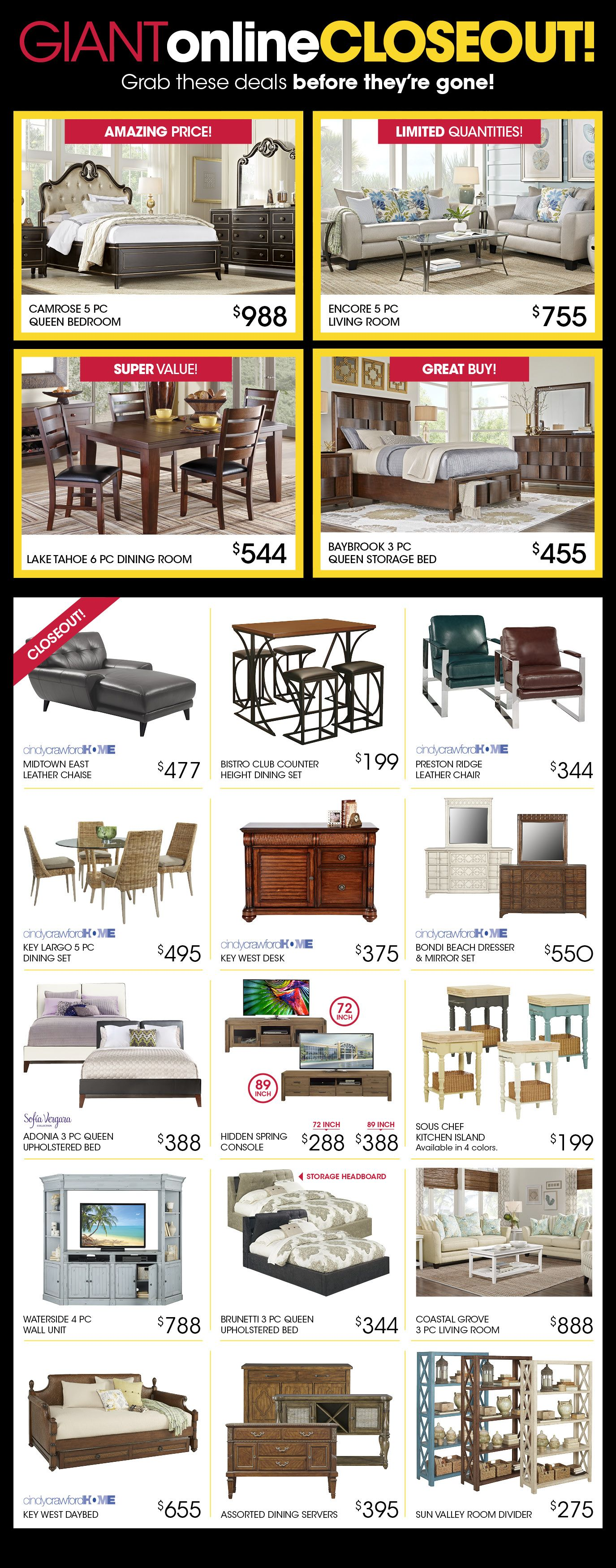 Affordable home furniture for sale from rooms to go best place to