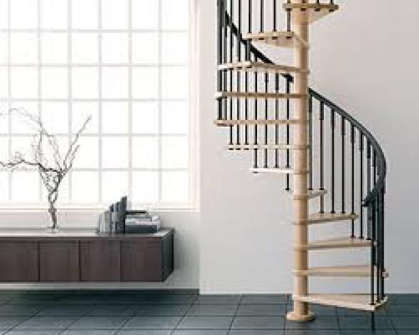 A escada caracol pode variar de diâmetro, sendo que o diâmetro ...