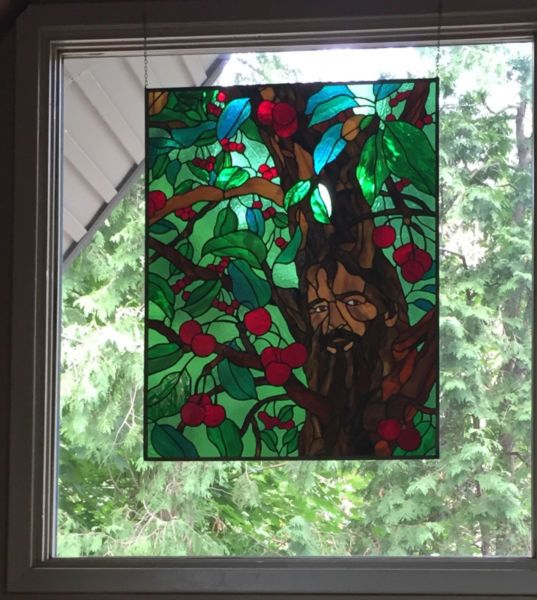 Three Stained Glass Panels For Sale Oracle In A Cherry
