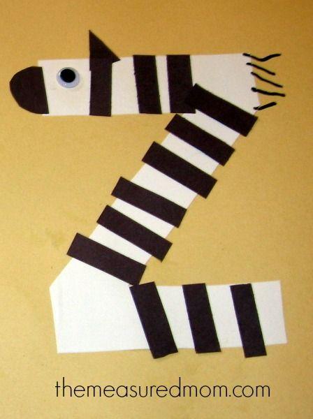 july 25 z is for zebra make n take letter z crafts preschool letter crafts z craft. Black Bedroom Furniture Sets. Home Design Ideas