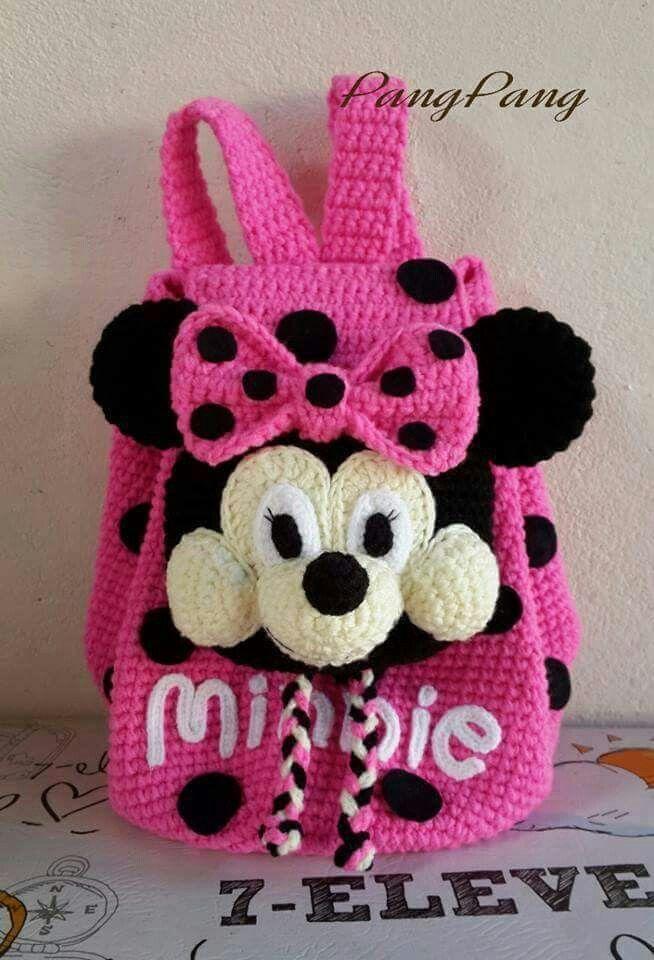Mochila de mini a ganchillo | tejidos | Pinterest | Crochet ...