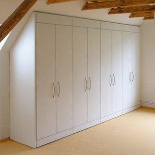 Slanted Ceiling Wardrobe With Images Slanted Ceiling Closet Build A Closet Attic Storage