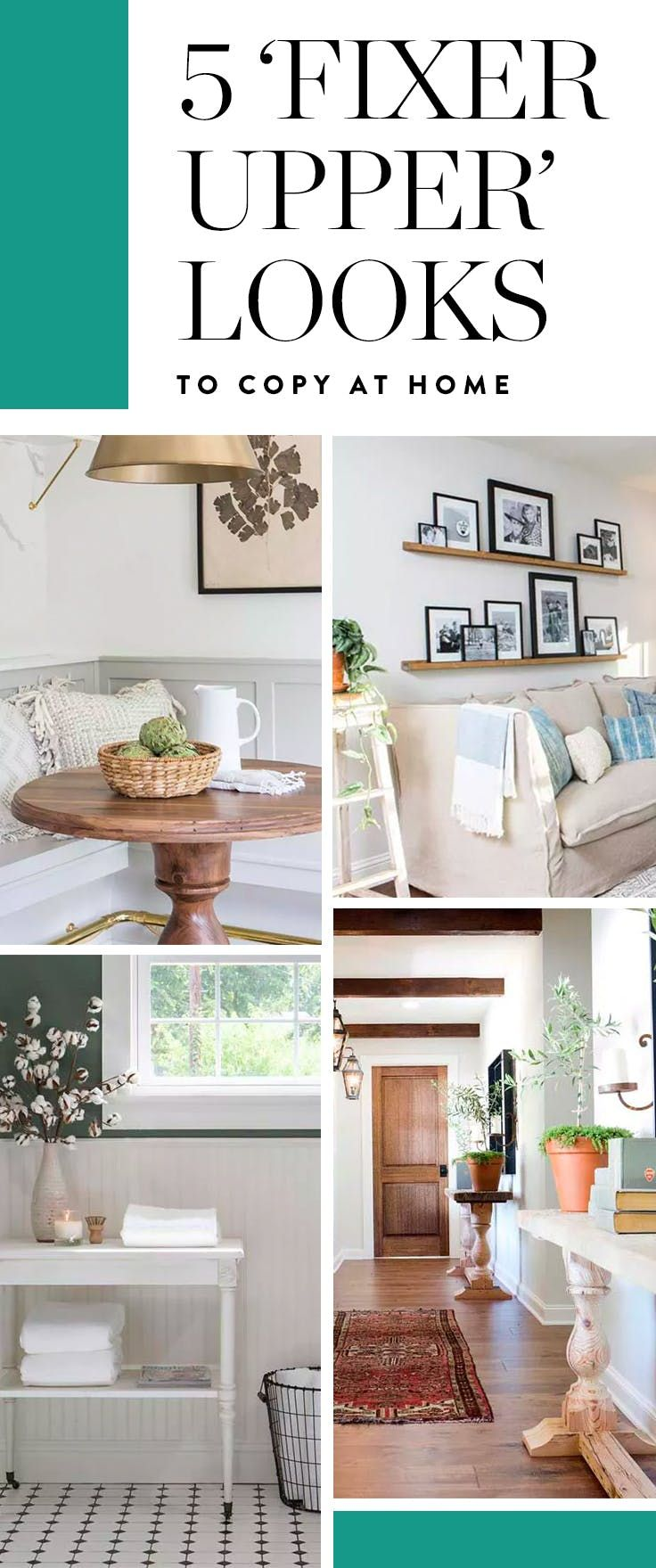 "5 'Fixer Upper' Looks You Can Totally Copy at Home is part of home Renovation Bedroom - To ease us through our series withdrawal, we curated five ""Fixer Upper"" decor schemes you can totally recreate chez vous—no shiplap install necessary"
