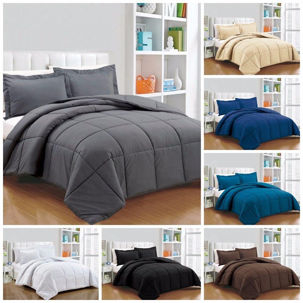 Chezmoi Collection 3-Piece Ultra Soft Down Alternative Comforter Set Chocolate