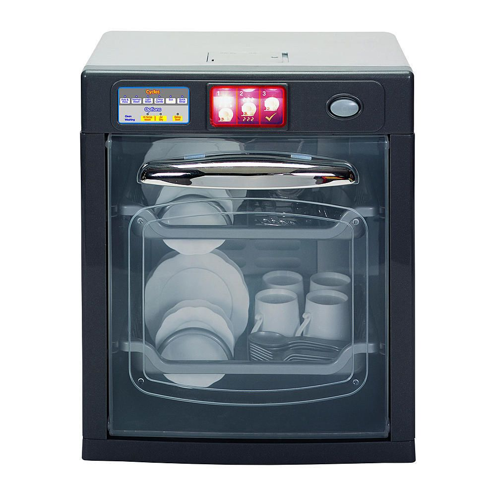 Play Dish Washer Interactive Kitchen Cleaning Stylish Water Sounds ...