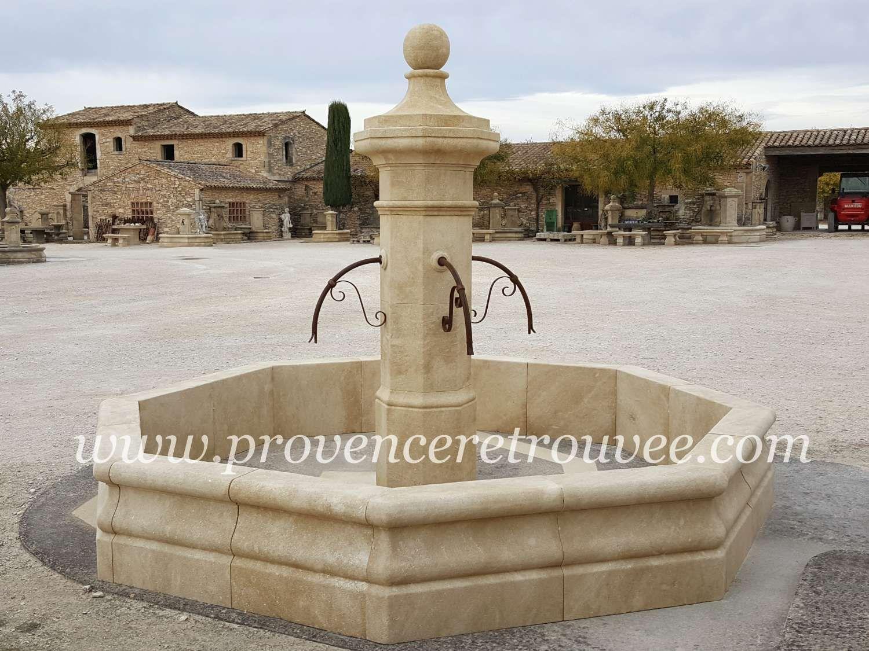 Fontaine centrale en pierre L\'Octogonale 350 fonc-O-350 | water ...