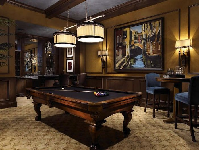 Pub Tables In The Game Room Artisan Crafted Iron Furnishings And Decor Blog Billiard Room Billiards Room Decor Pool Table Room