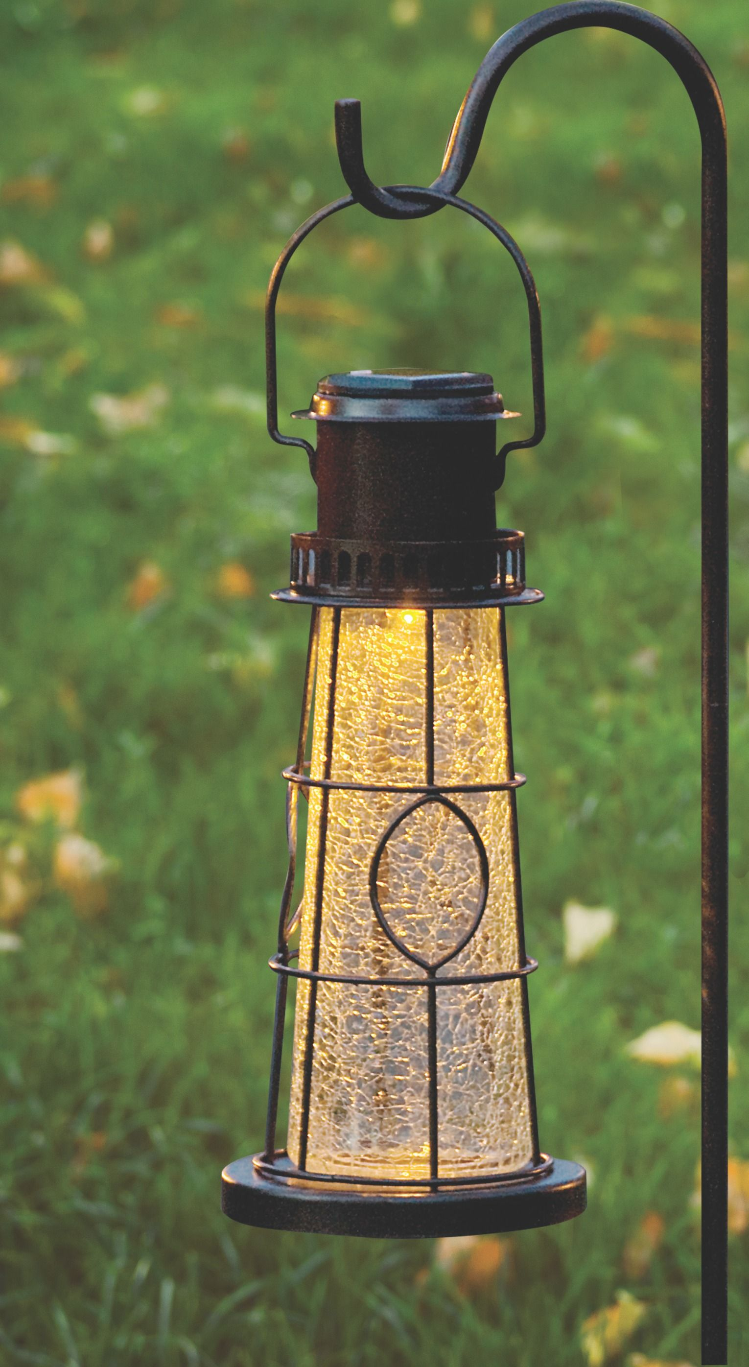 Light The Way Resembling Look Of A Lighthouse This Hanging Solar Will Illuminate Your Yard With Its Color Changing Led Bulb