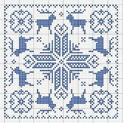 Cross-stitch Winter Biscornu, part 2.. can use variegated DMC floss like photo or choose your own colors... http://uploads.ru/t/x/r/s/xrsyD.jpg