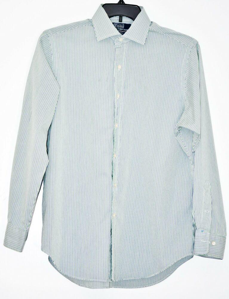 Green Polo Dress Shirt Fit Ralph Ls Stripe Lauren Regent Classic 8Ovm0Nnwy