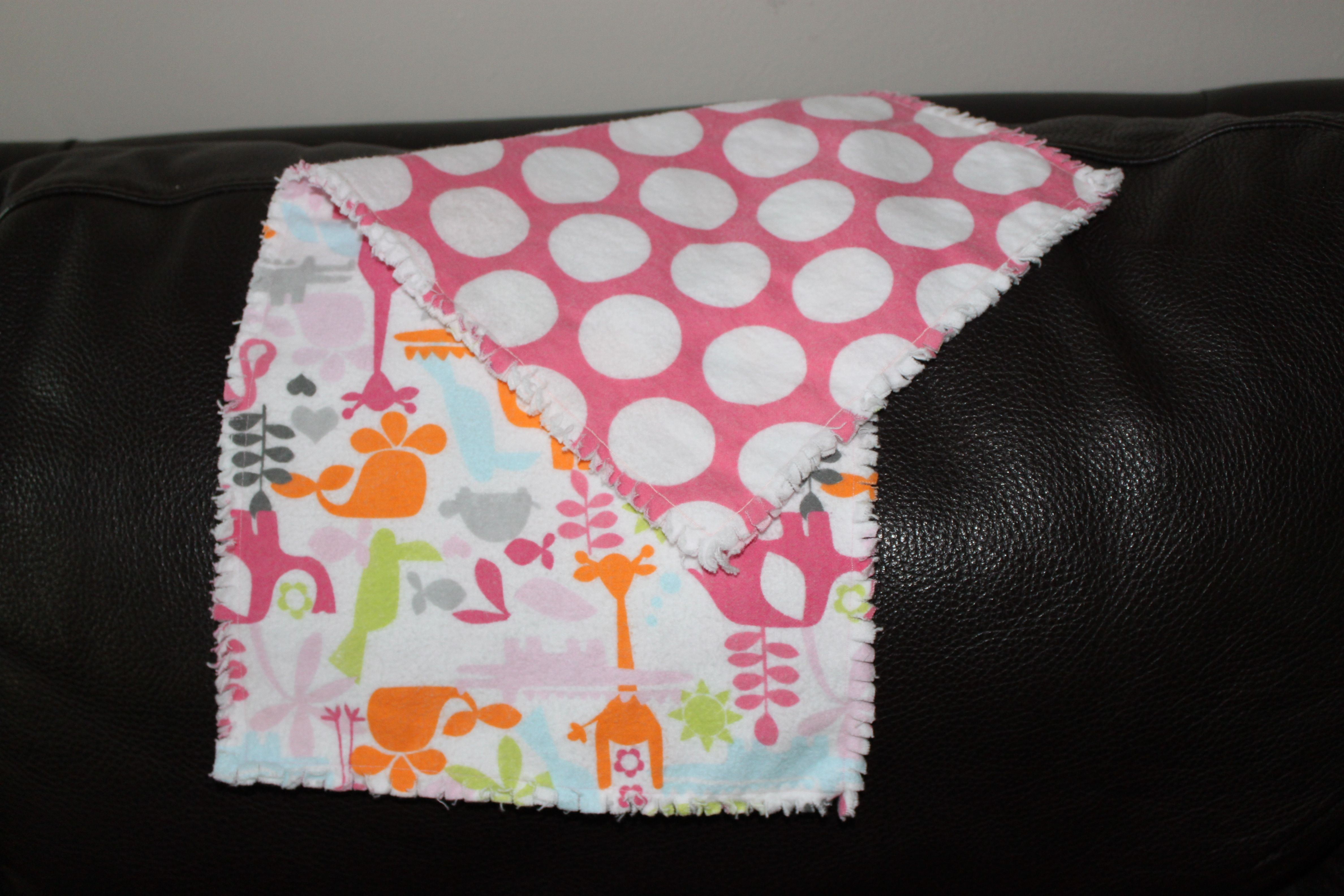 Burp Cloth flannel with the fringe ... cute!