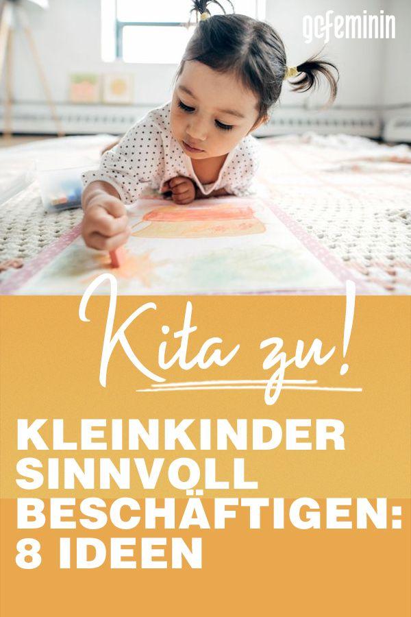 Deutschlandweit bleiben Kitas geschlossen. Hier findet ihr Ideen, wie ihr euer Kleinkind sinnvoll beschäftigen könnt.