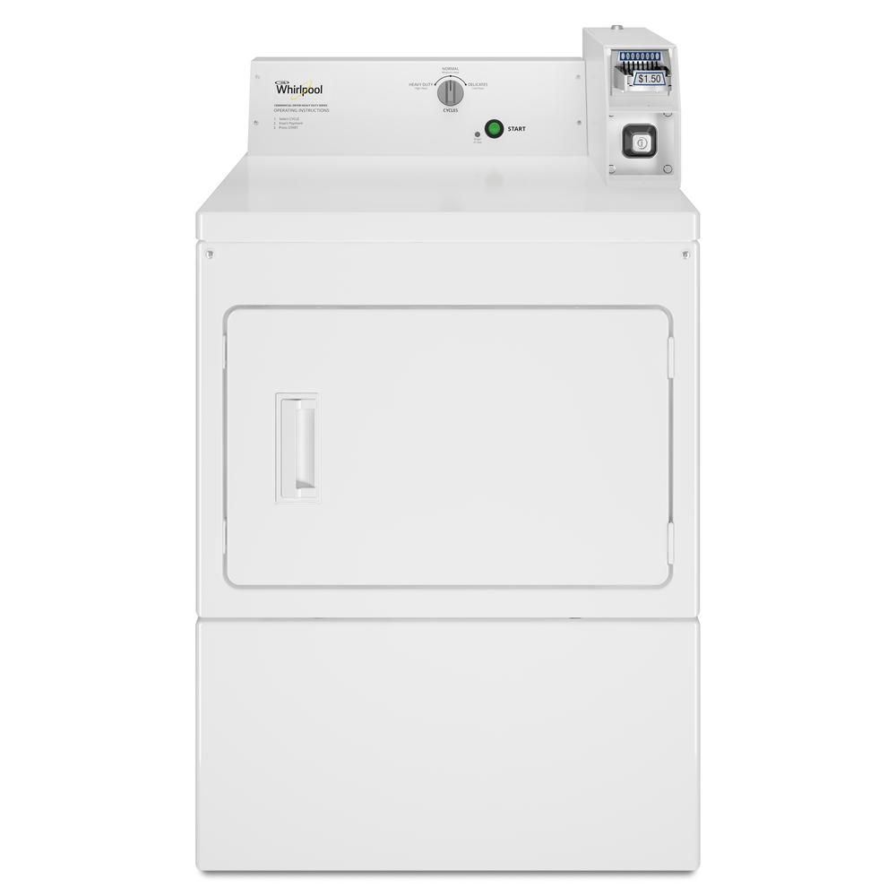 Whirlpool 7 4 Cu Ft 240 Volt White Commercial Electric Vented Dryer Coin Operated Gas Dryer Commercial Electric Dryer