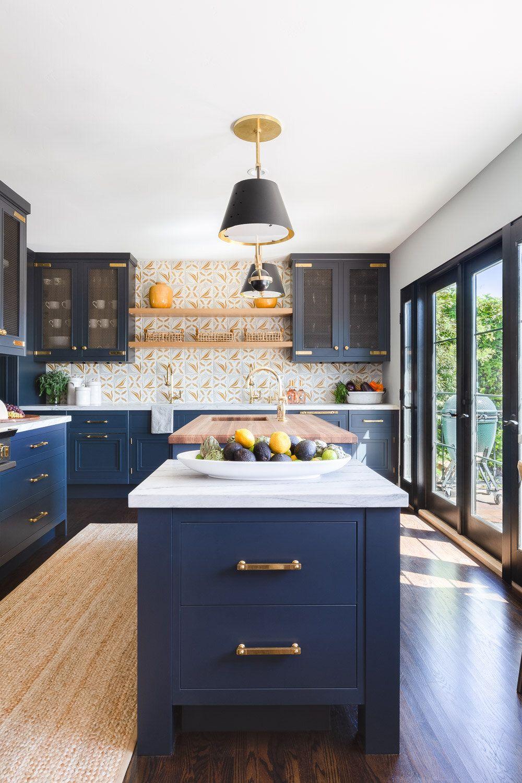 Santa Barbara Riviera Kitchen Kitchen Cabinets And Countertops Blue Kitchens Dark Blue Kitchens