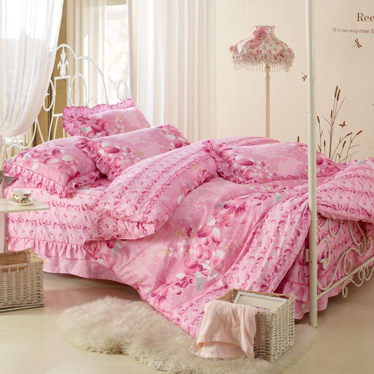 Lovely Mattress Cover Bedding Set Korean 4 Piece Bedding Sheet