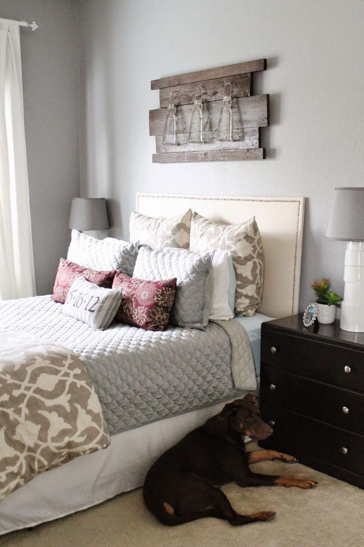 Wanddeko aus Holz -selber-machen-kreativ-schlafzimmer-deko ...