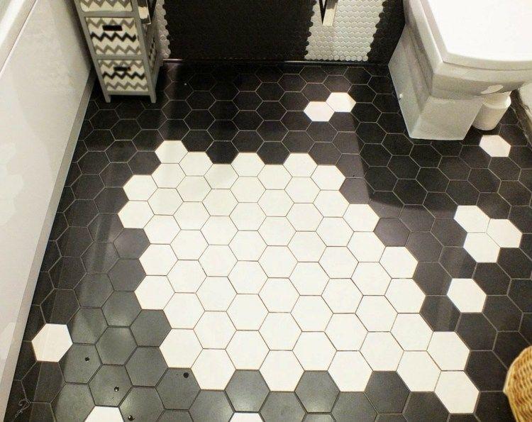 Fußboden Fliesen Schwarz Weiß ~ Fußboden fliesen in schwarz weiß Идеи hexagon