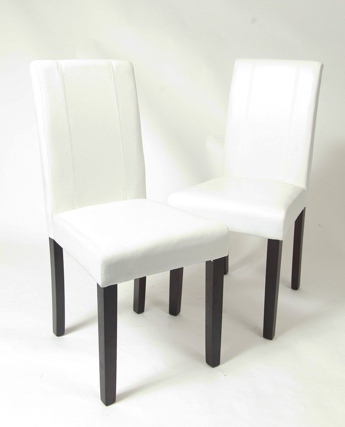 Robot Check Dinning Chairs White Leather Dining Chairs Fabric