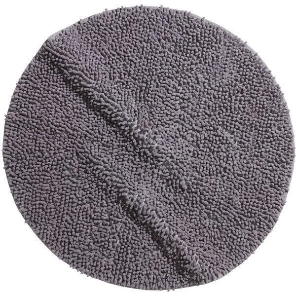 H&M Bath mat (87 SEK) ❤ liked on Polyvore featuring home, bed & bath, bath, bath rugs, grey, round bath mat, gray bath mat, gray bathroom rugs, cotton bathroom rugs and cotton bath mats