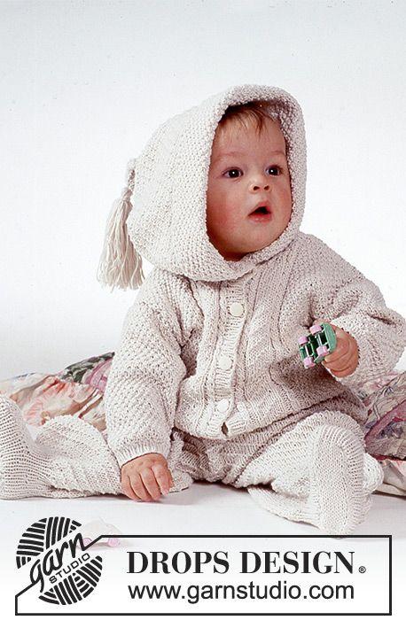 Cuddle Bug / DROPS Baby 1-1 - Drops Aran pattern Set (jacket with ...