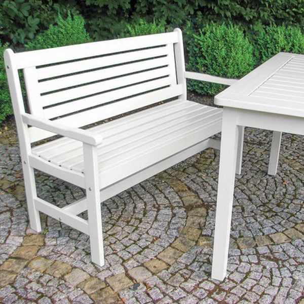 Enjoyable White Colour Garden Bench Pine Wood Outdoor Balcony Patio Uwap Interior Chair Design Uwaporg