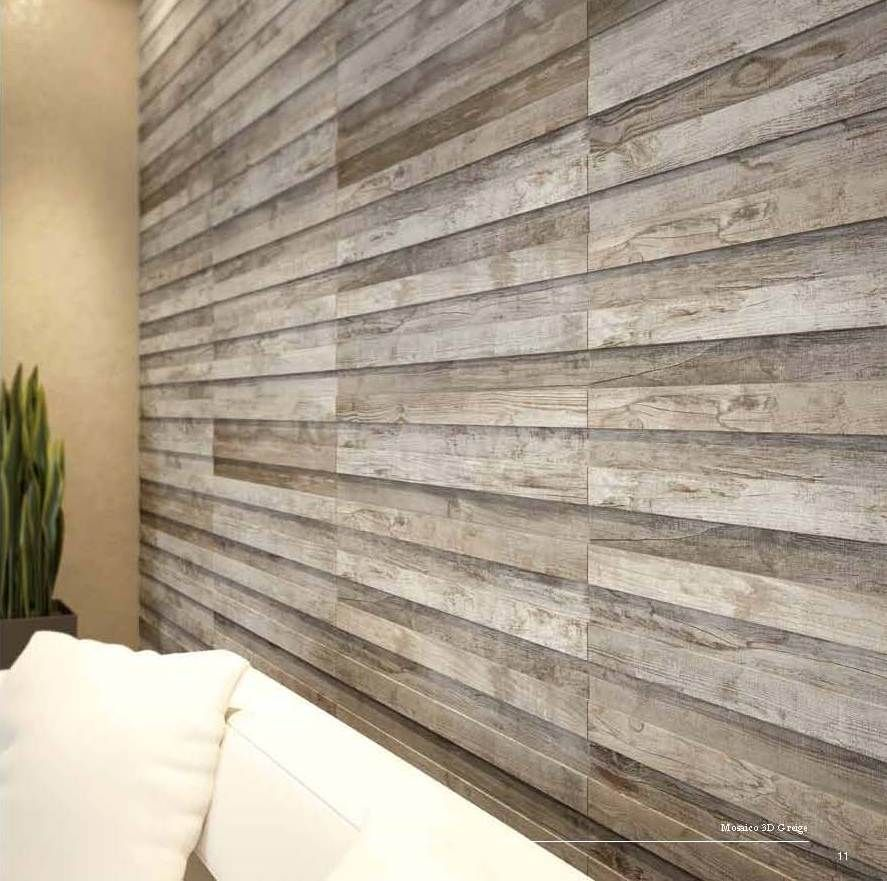 Trendy, Wood Look Tiled Wall // Cisa // Bedroom Wall // Reference