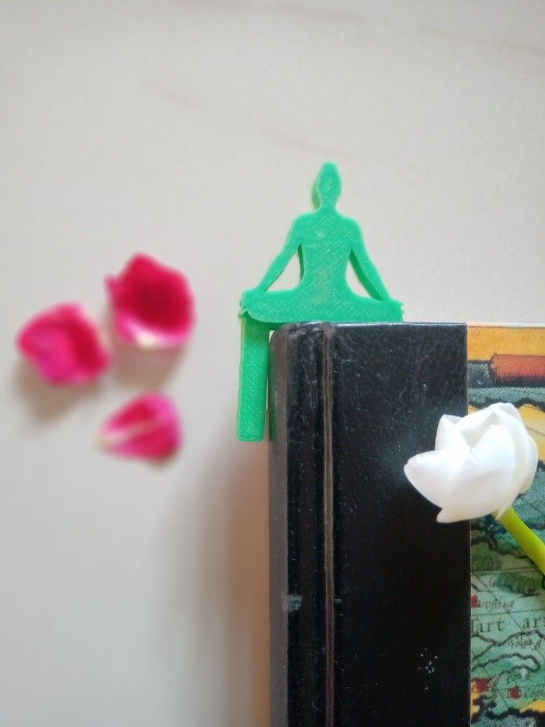 Bookmark with meditation poseyoga lovers would love it