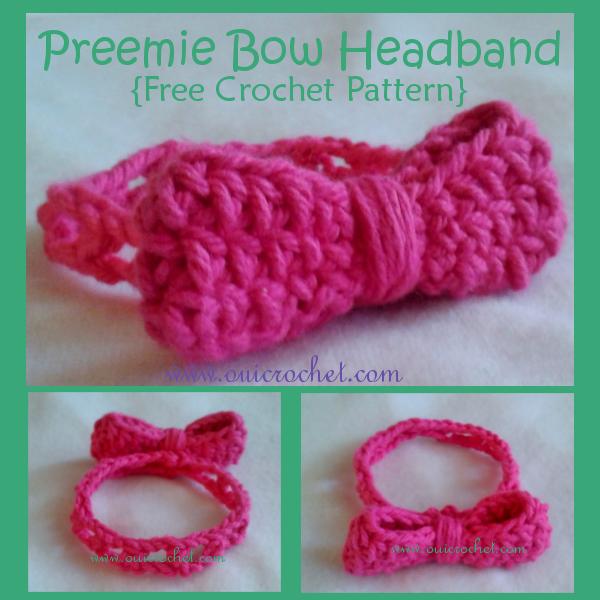 Preemie Bow Headband {Free Crochet Pattern} | Oui Crochet: Free ...
