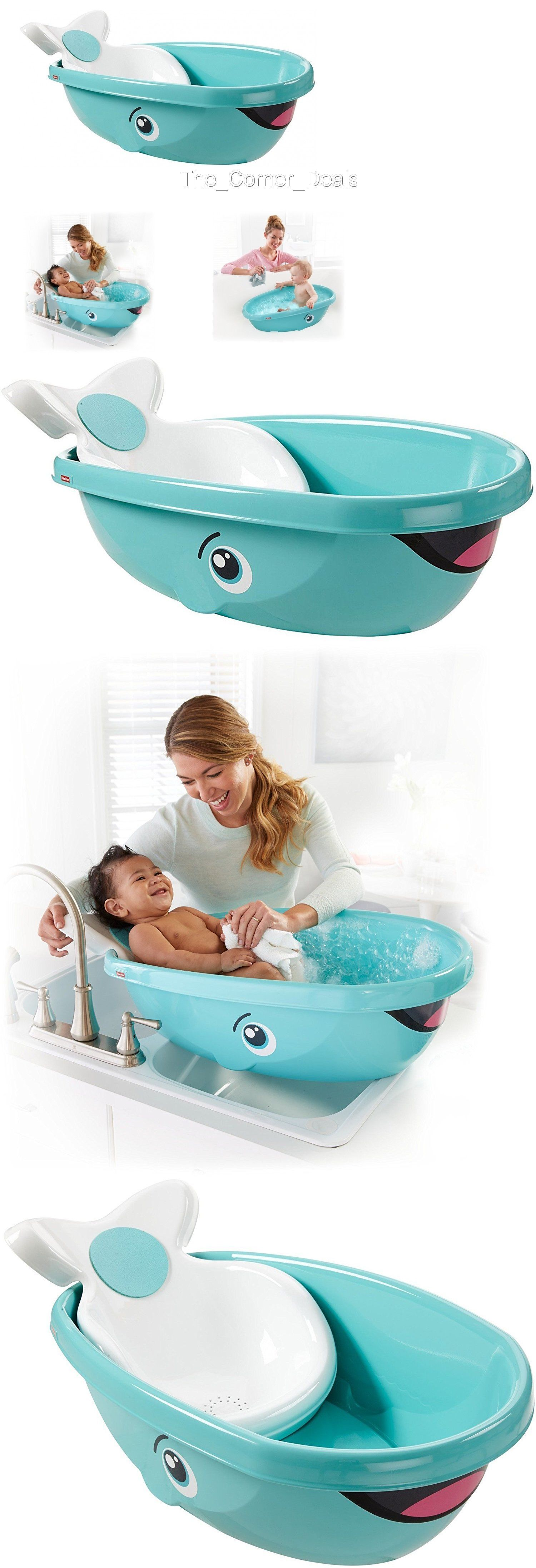 Bath Tubs 113814: Fisher Price Whale Baby Kids Toddler Newborn ...