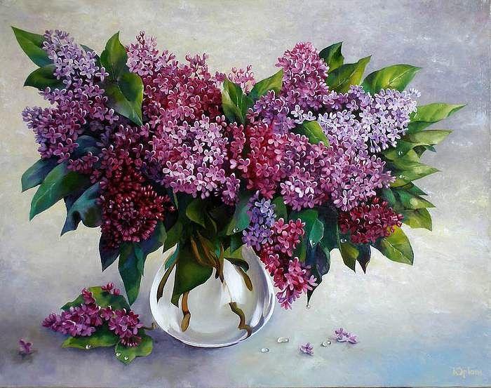Одноклассники | Цветочное искусство, Фиолетовые цветы, Сирень