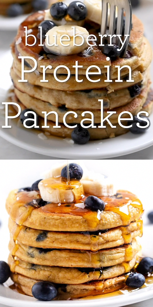 The BEST Blueberry Protein Pancakes [GF] - Simply