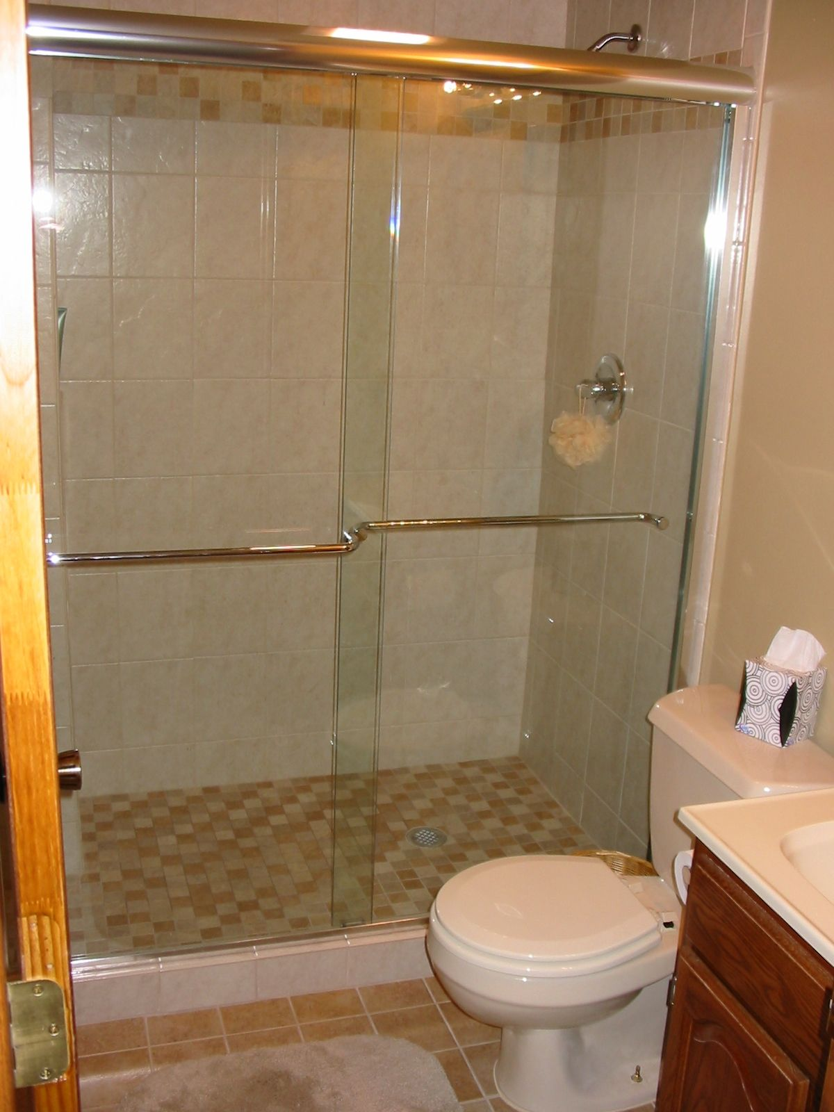 framless shower doors | Work Right Products - Bypass Shower Doors ...
