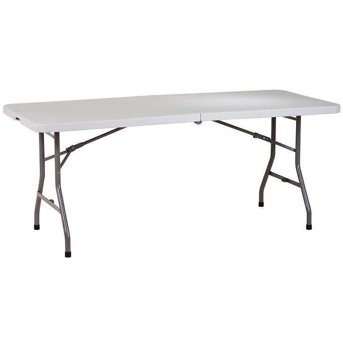 6 Ft Center Fold Multipurpose Table Folding Table Outdoor Folding Table Office Star