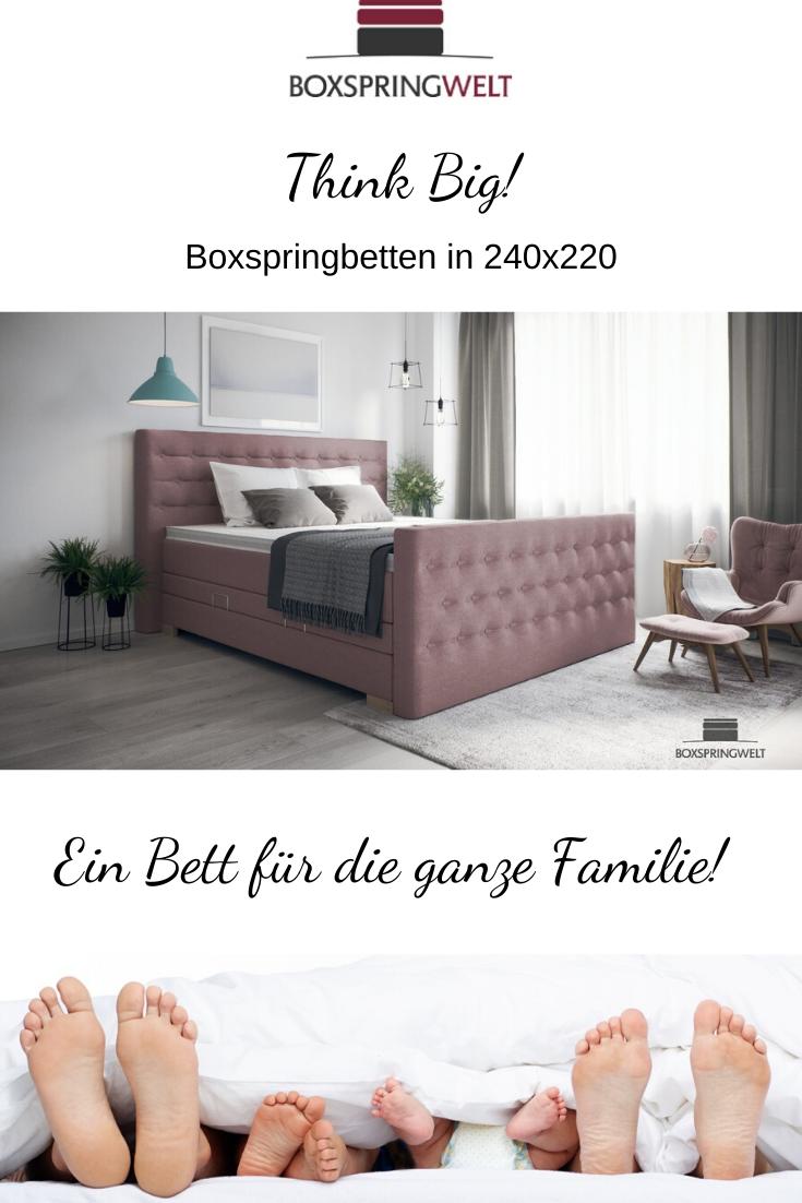 Boxspringbett 240x220 Cm Boxspringbett Bett Familien Bett
