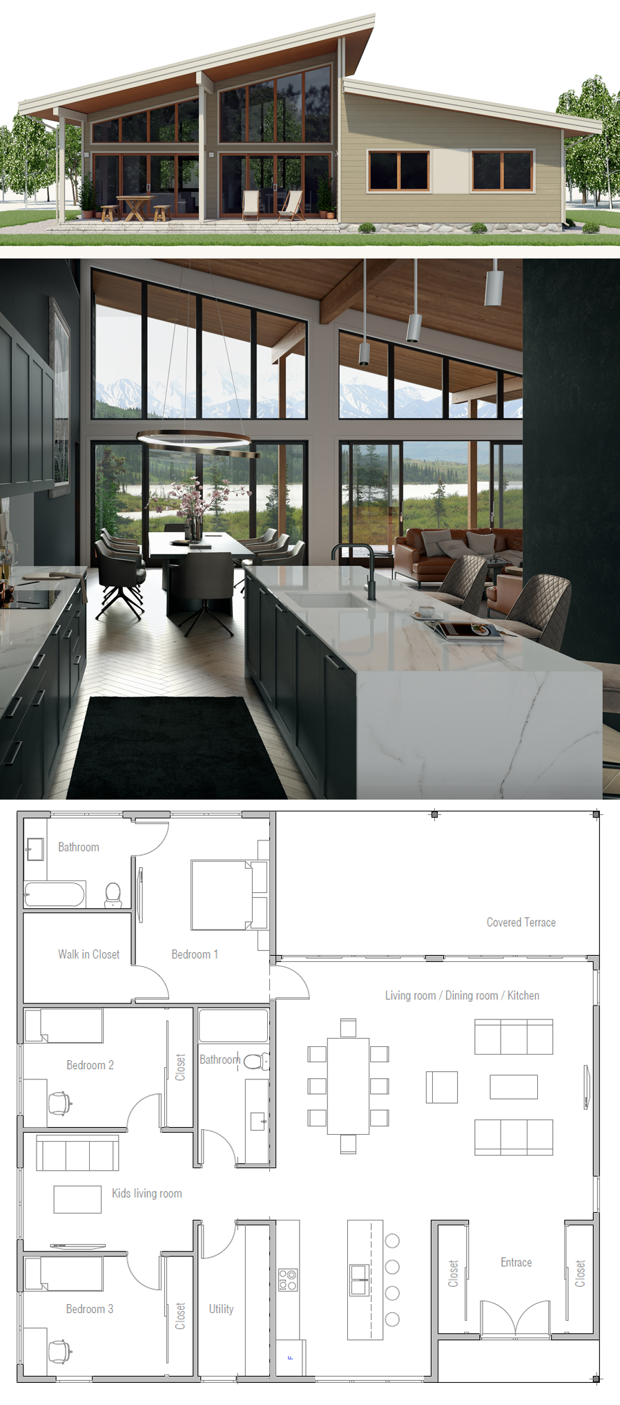 Small house plan love all the windows and light