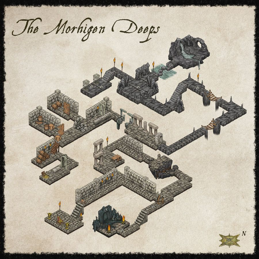 ISO Dungeon Map by *Djekspek on deviantART | D&D Cartography in 2019 on