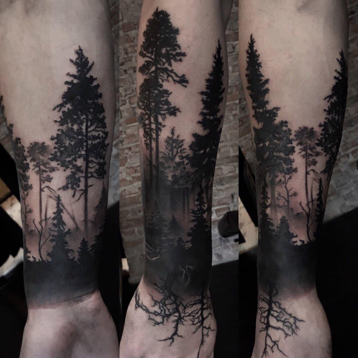Bgreytattoo Forest Foresttattoo Oslo Norway татуировки