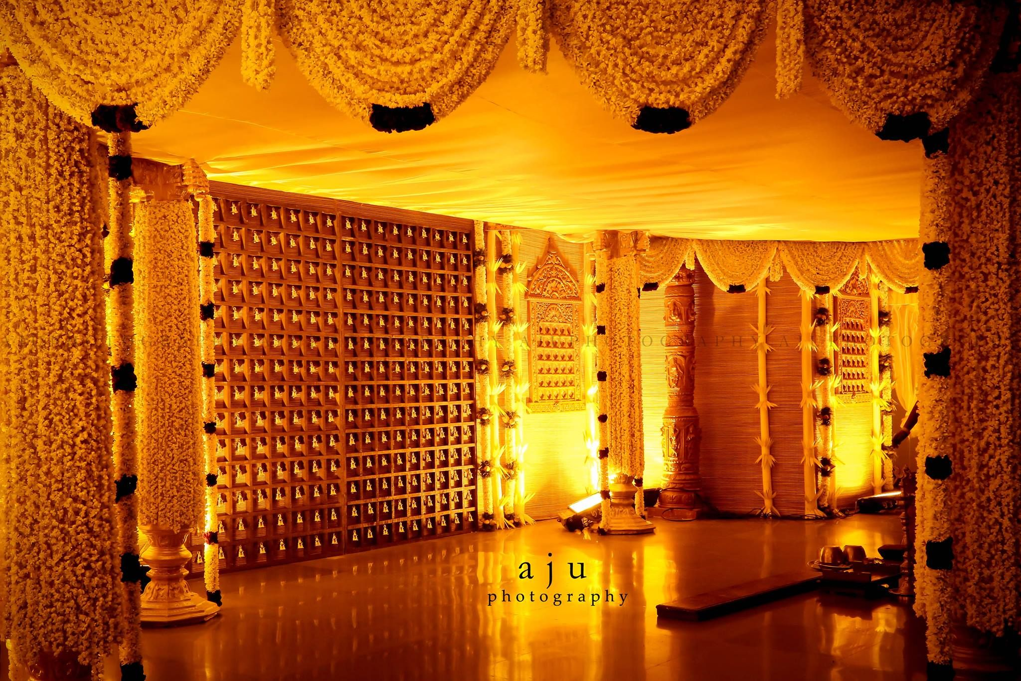 Aju photography indian wedding decorators pinterest for Backdrops for stage decoration