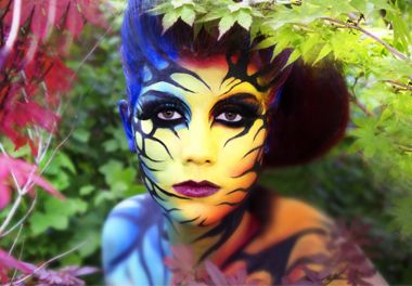 Blanes Samuel face-painting, Maquillage artistique couleur vives creation maquillage