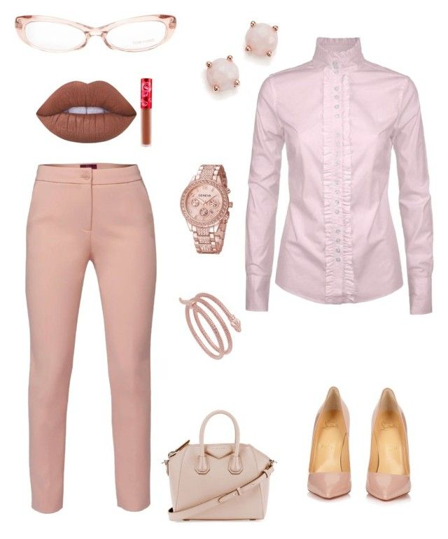 """""""Blushing because it's Spring"""" by theharlemhippie-sharema on Polyvore featuring WtR, DUBARRY, Christian Louboutin, Ippolita, Givenchy, Tom Ford and Lime Crime"""