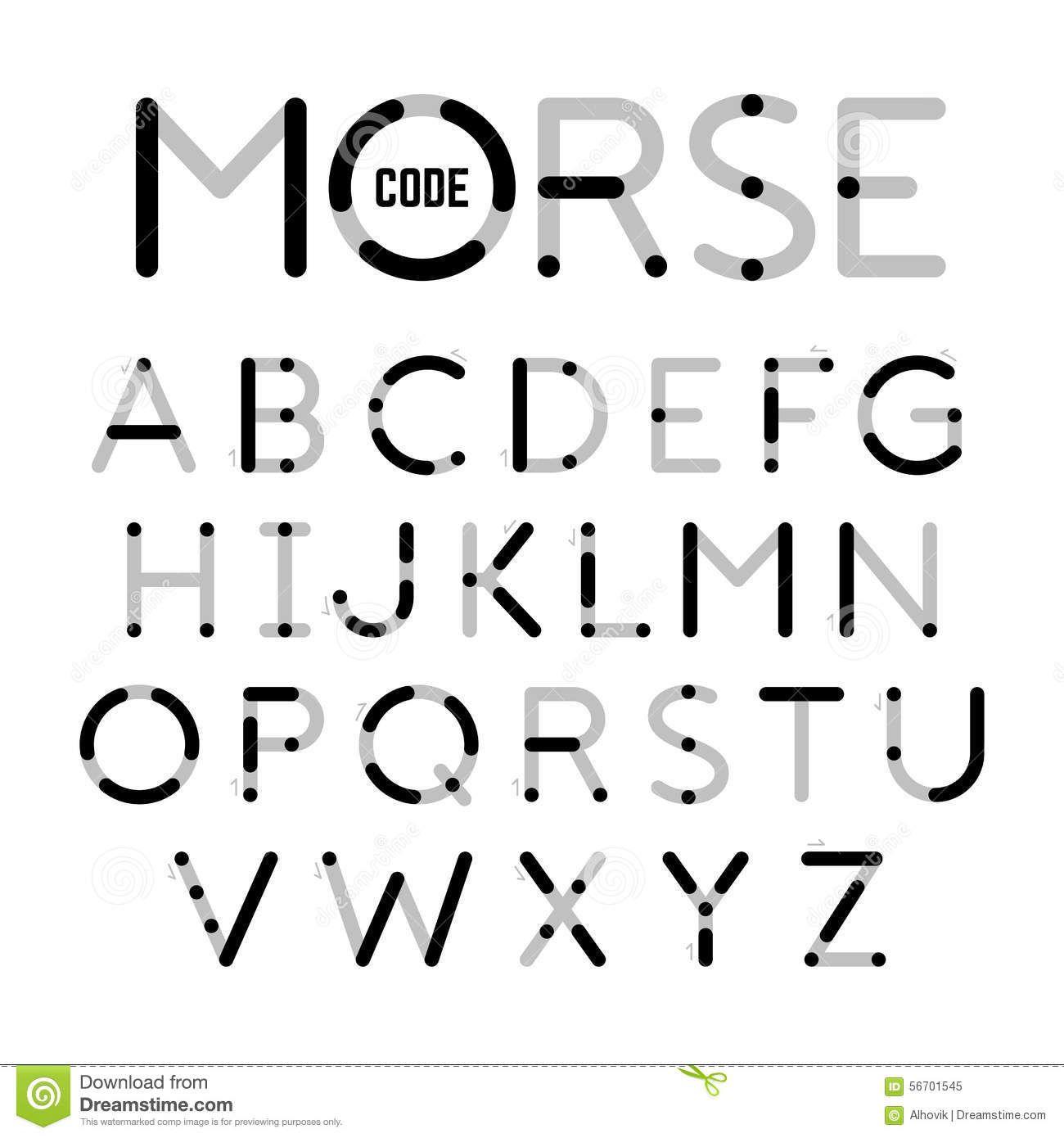 International Morse Code Chart  Symbolisms    Morse