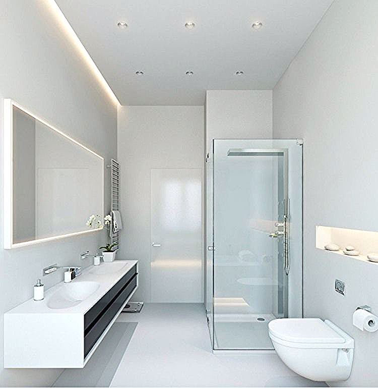 Ensembles De Salle De Bain Led Bathroom Lights Minimalist Bathroom Modern Bathroom Lighting