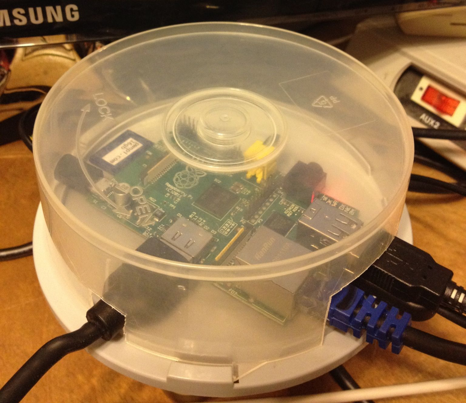 Raspberry pi case made from a cd case | Rasberry Pi | Pinterest | Cd ...
