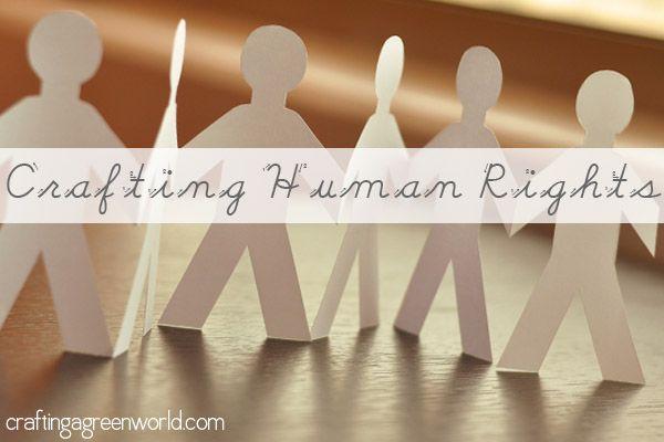 Craftivism Talking Human Rights For Blog Action Day Human Rights Human Rights Day Crafts