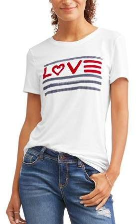 aaa8223a00 Love Flag Crew Neck Graphic Tee Women's in 2019 | EV1 | Tees, Crew ...