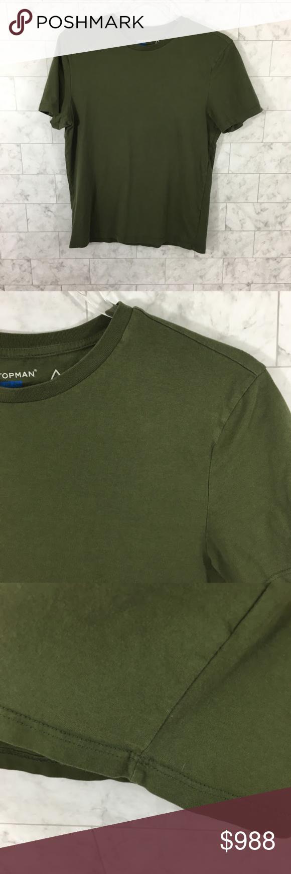 Topman Mens Olive Army Green Tshirt Bc19 Army Green Tshirt Long Sleeve Tshirt Men Topman