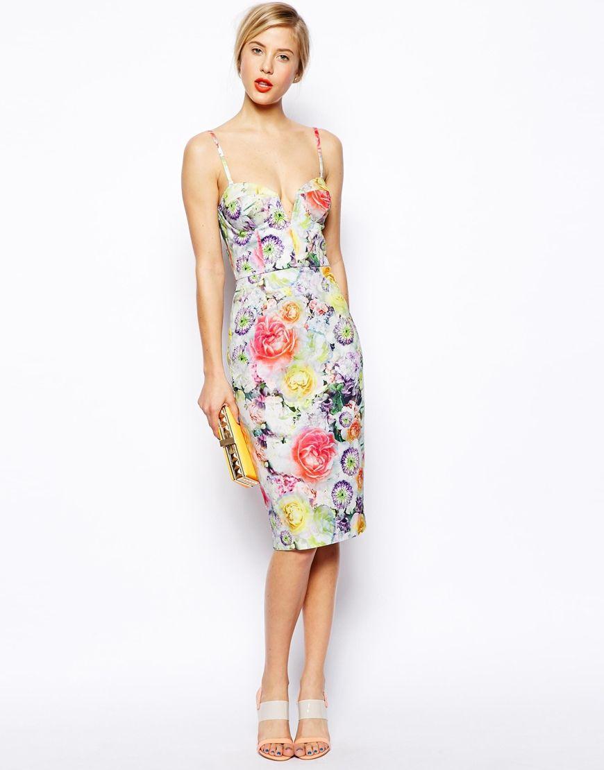 e4f065e7f20c  ASOS Floral Bandeau Midi Dress http   www.asos.com